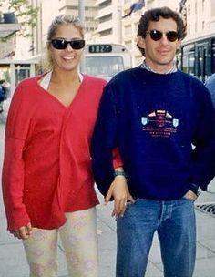 Ayrton Senna & Adriane Galisteu - Paris - 1993.