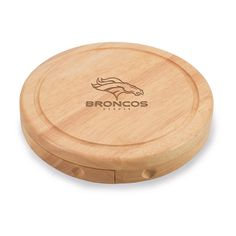 Picnic Time 878-00-505-103-2 Denver Broncos Brie Cheese Cutting Board  Wedding Gift