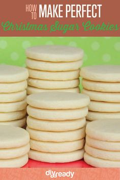 Best Christmas Sugar Cookie Recipe | How to Make Christmas Cookies - The Perfect Sweet Treat For Holidays by DIY Ready at http://diyready.com/best-christmas-sugar-cookie-recipe-how-to-make-christmas-cookies                                                                                                                                                      More