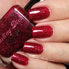 Darling Diva Polish - Right Up Main Street - Deadpool Part 2: Even Deader Collection - indie polish swatches and review | Sassy Shelly   #holo #nails #indiepolish