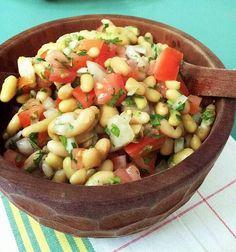 Ensalada de porotos Latin American Food, Latin Food, Quiches, Chilean Recipes, Chilean Food, Vegetarian Recipes, Healthy Recipes, Comida Latina, Exotic Food