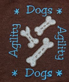 Dog agility  embroidered   tshirts by socksforewe on Etsy, $13.00