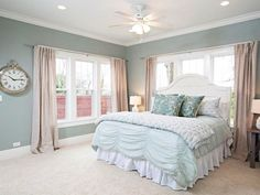 Joanna's five favorite paint colors to get the Fixer Upper look  Oyster Bay by SW    #paint | The Harper House