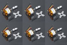 LHM026 6pcs A2212 Brushless Motor 1000KV for RC F450 F550 Aircraft Plane Multi-copter Brushless Outrunner Motor Free shipping