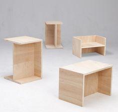 Really versatile stool / seat / side table - Der Berliner Hocker Bauhaus Furniture, Modular Furniture, Plywood Furniture, Furniture Projects, Furniture Plans, Kids Furniture, Table Furniture, Modern Furniture, Furniture Design