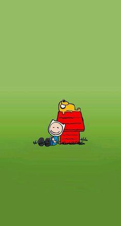 Adventure Time, Finn and Jake as snoopy and Charlie Brown Cartoon Adventure Time, Adventure Time Art, Adventure Time Crossover, Marceline, Cartoon Network, Totoro, Abenteuerzeit Mit Finn Und Jake, Finn Jake, Adveture Time