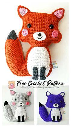 Crochet Crafts, Free Crochet, Amigurumi Patterns, Crochet Patterns, Step By Step Crochet, Cute Fox, Learn To Crochet, Crochet Animals, Free Pattern