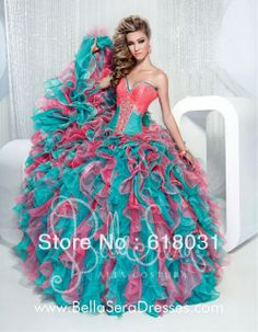 2014 Fashionable sweetheart beading ball gown multi colors puffy quinceanera 15 dresses 1175-B