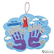 Ten Commandments Handprint Craft Kit