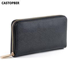Designer Fashion Cross Pattern Women's Wallets Split Leather Women Wallet Fashion Cowhide Purse High Quality Famous Long Brand