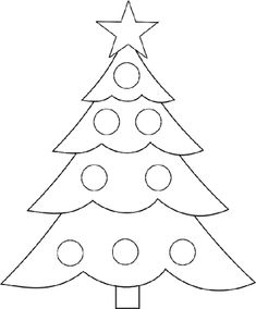 Traceable Christmas Tree Picture Right Click And Print Kids Activity Writing Skills