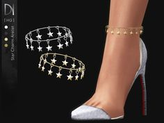 The Sims 4 Star Charm Anklet [Right] Sims 4 Mods Clothes, Sims 4 Clothing, Sims Mods, The Sims 4 Pc, Sims 4 Mm, Sims 4 Piercings, The Sims 4 Cabelos, Muebles Sims 4 Cc, Sims 4 Collections