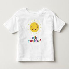 Second Baby Announcements, Hello Sunshine, Consumer Products, Basic Colors, Toddler Outfits, Cotton Tee, T Shirts For Women, Tees, Cute