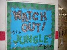 Jungle Theme Classroom | Elementary Jungle Classroom Theme Bulletin Board Ideas