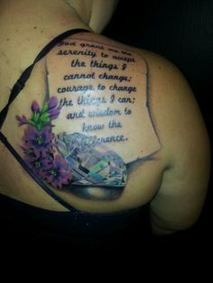 My tattoo! Thanks Caleb Lyons at Beauty from Pain Tattoo and Art Studio Oklahoma City! Diamond Tattoo Meaning, Diamond Tattoos, Tattoos With Meaning, Anniversary Tattoo, Serenity Prayer, Ink Art, Tattoo Photos, Tattoo Inspiration, I Tattoo