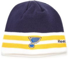 NHL Face Off Cuffless Knit Hat, St. Louis Blues, One Size Fits All Reebok. $9.11
