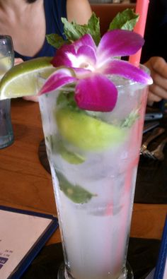 mojito from Paradise Cove Beach Cafe in Malibu California- go for the drinks and atmosphere. Not for the food, party of 5 and none of us liked our dish.