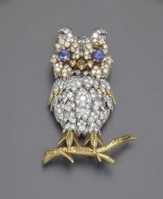 A DIAMIOND AND SAPPHIRE BROOCH – Christie's