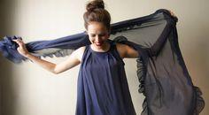 Evening Shawl Luxe Shawl Blue by BLUSHFASHION on Etsy, $29.00