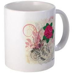 Mini Rose Antique Flourish Mugs
