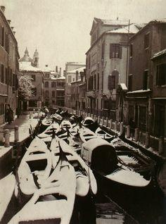 Venice in winter, Italy, circa 1920