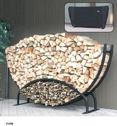 DIY firewood rack ideas will help you to keep the piles of firewood dry so you can enjoy bonfires in your back yard. Find and save ideas about firewood rack in this article. Outdoor Firewood Rack, Firewood Logs, Firewood Holder, Firewood Storage, Buy Firewood, Log Carrier, Log Holder, Log Home Decorating, Wood Shed