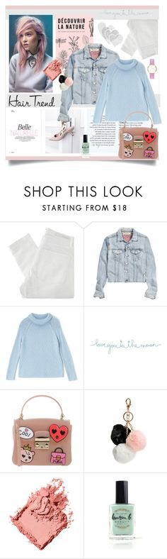 """Hair Trend:Matchy Matchy Pastels"" by rosalie45 ❤ liked on Polyvore featuring beauty, Nobody Denim, H&M, Dash, Natural Life, Furla, GUESS, Bobbi Brown Cosmetics, Lauren B. Beauty and Abbott Lyon"