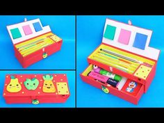 Hello friends, today we are going to show you How to make Pencil Case at home with waste cardboards/Best out of waste/DIY Pencil Box Today we have made this . Paper Crafts Origami, Cardboard Crafts, Creative Birthday Cards, Hand Lettering Alphabet, Cute Stationary, Diy School Supplies, Pencil Boxes, Diy Art, Diy For Kids