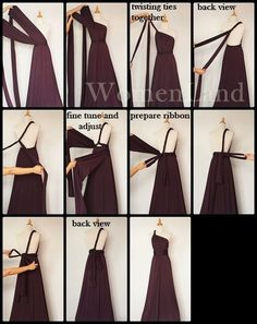 Convertible dress one shoulder Infinity Dress Ways To Wear, Infinity Dress Styles, Infinity Dress Bridesmaid, Bridesmaid Dress Styles, Bridesmaids, Infinity Dress Tutorial, Dress Outfits, Fashion Dresses, Multi Way Dress