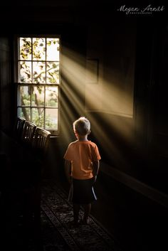 Creative exercises to help ypu find the light. Incredible-Sunbeams-through-Dining-Room-Window-and-Boy-in-Orange-Shirt-by-Megan-Arndt