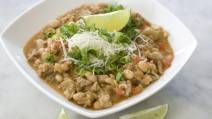 Healthy white bean chicken chili recipe.