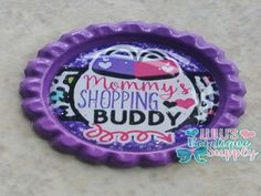 Mommy Is My Shopping Buddy Finished Bottle Cap