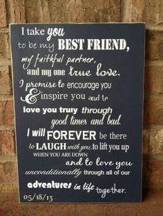 Love these best friend vows