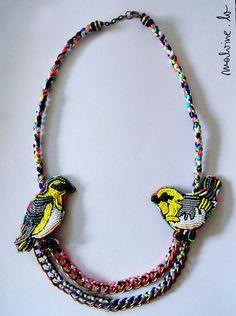 Original embroidered jewelry by Malvine Mennika   Beads Magic