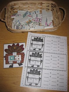 Erica Bohrer's First Grade: Common Core Based Thanksgiving Math Centers (I would probably make this more generic so I could use it all year.)