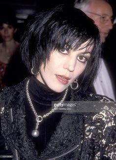 Musician Joan Jett attends the National Baseball Hall of Fame Gala on May 13, 1993 at The Waldorf-Astoria Hotel in New York City.