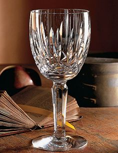 Even box wine tastes good when you drink it from a Waterford crystal glass