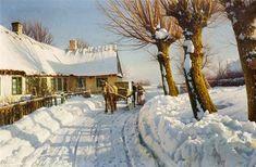 Winter in Herstedvester, Peder Mørk Mønsted Dec 1859 – 20 Jun was a Danish painter. European Paintings, Classic Paintings, Paintings I Love, Winter Landscape, Landscape Art, Landscape Paintings, Snow Scenes, Winter Scenes, Oranjestad