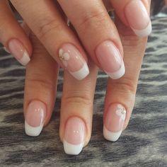 #ballerinashape #coffinnails #frenchnails #flowernailart #pronailsitalia #pronails by eclissi_monselice