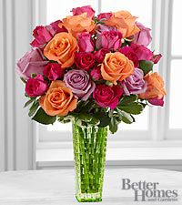 The FTD Sun's Sweetness Rose Bouquet by Better Homes and Gardens - VASE INCLUDED