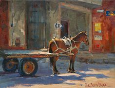 Dee Beard Dean - The Last Load- Oil - Painting entry - July 2013 | BoldBrush Painting Competition
