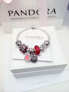 50% OFF!!! $179 Pandora Charm Bracelet Red. Hot Sale!!! SKU: CB02092 - PANDORA Bracelet Ideas