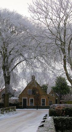 Oude commandeurswoning, Nes, Ameland, Netherlands. Ameland is one of the West-Frisian Islands.