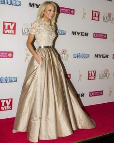 Carrie Bickmore attending the 56 Logie Awards at Crown in Melbourne on Sunday 27 April 2014 .