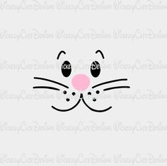 Boy Bunny Rabbit Face SVG, DXF, EPS, PNG Digital File – Wickedly Cute Designs