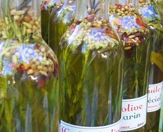 Flavored Cooking Oils In Beautiful Bottles - to keep or give as a gift!