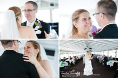 The First Dance as a couple on the Seneca Legacy. A wedding on the lake. | All Images Copyright © 2014 Timeless Treasures Photography | www.savingyourmemories.com