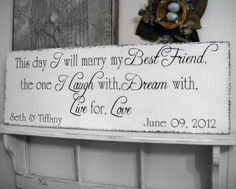 Custom Vintage Wedding Sign via Etsy.