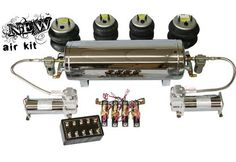 Air Ride Suspension: Classic Cars: (NEW) Air Kits #11-5438 3/8 FBSS Air Kit   www.coolcars.org air, air bags , air ride systems , air system , air systems , minitruck , trucks, cce equipped , hydraulics system , cce , cce hydraulics , cool cars, cool , cars, louisville , kentucky , lowriders, low low , lowrider , setup , hydraulic setup , low , custom , cars, car , wires wheels , spokes , switches: