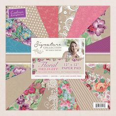 Sara Davies Floral Delight 12*12in Paper Pack